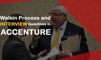Walkin process and interview questions in Accenture
