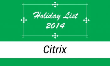 Holiday List of 2014 in Citrix, Bangalore and Hyderabad