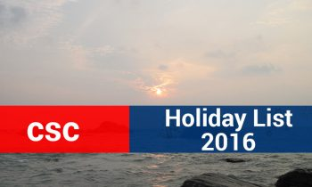 Computer Sciences Corporation (CSC) India – Holiday List 2016