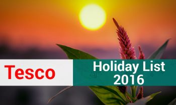 Tesco Bangalore – Holiday List 2016