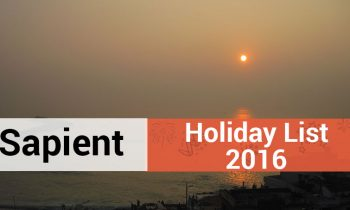 Holiday List 2016 of Sapient, India