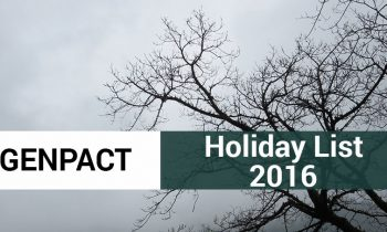 Genpact India Holiday List 2016