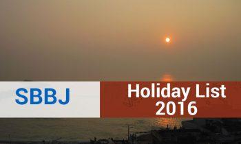 Holiday List of State Bank of Bikaner and Jaipur (SBBJ)