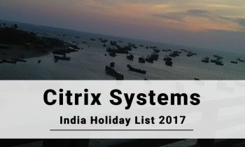 Citrix Systems India Holiday List 2017