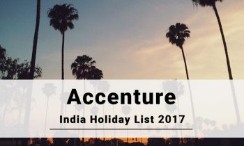 Accenture Holidays 2017