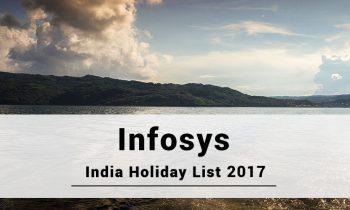Infosys India Bangalore Holidays 2017