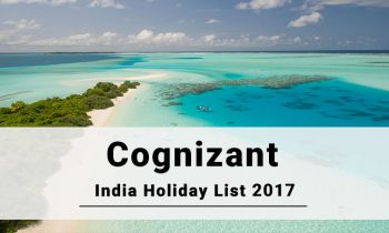 Cognizant India Office Holiday 2017