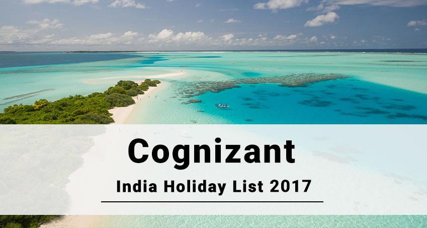 Cognizant India Office Holiday 2017 Joblagao Com