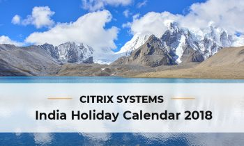 Citrix Systems India Holiday List 2018